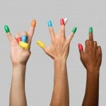 Francesco Musci's Tidy Tips are brightly coloured finger condoms