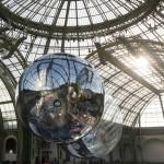 Tomás Saraceno installs Aerocene metallic orbs in Paris' Grand Palais