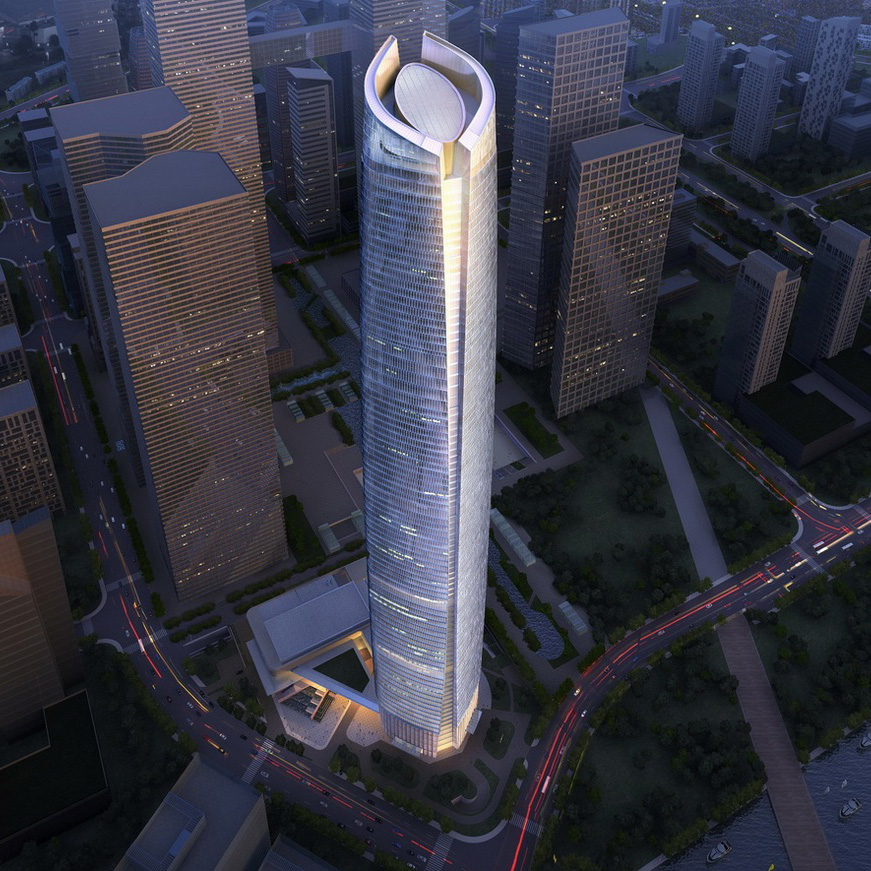 Wuhan Center Tower, China, by ECADI