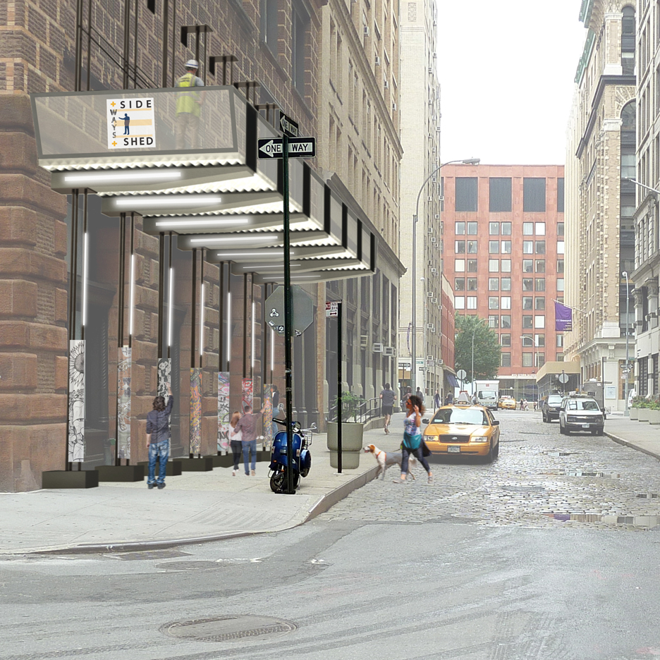Four designs aim to improve sidewalk sheds around New York construction sites