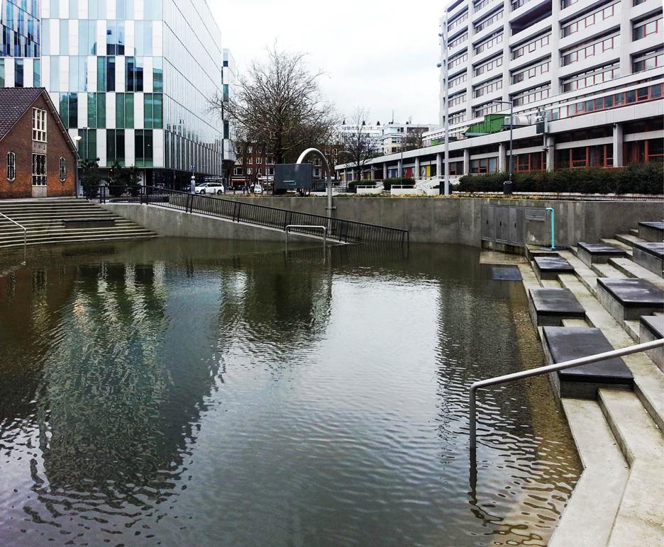 Water Squares at Benthemplein, Rotterdam, by De Urbanisten
