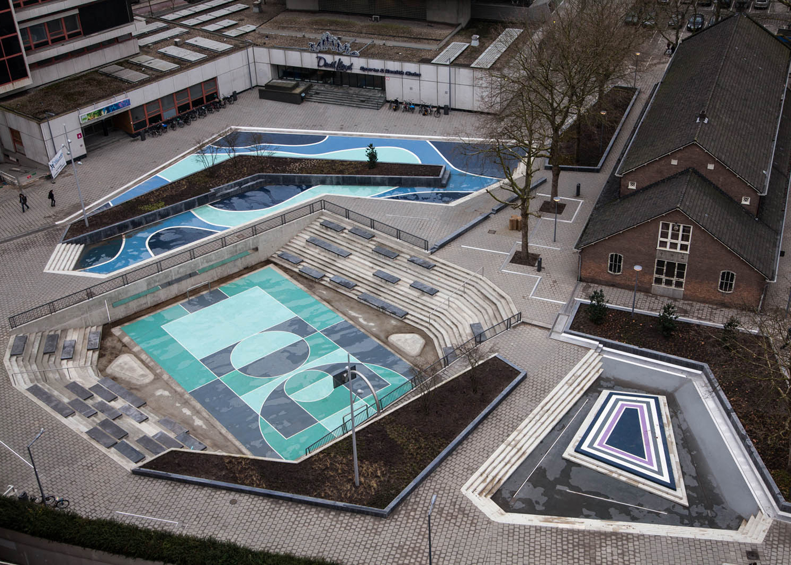 Water Squares at Benthemplein, Rotterdam, by De Urbanisten