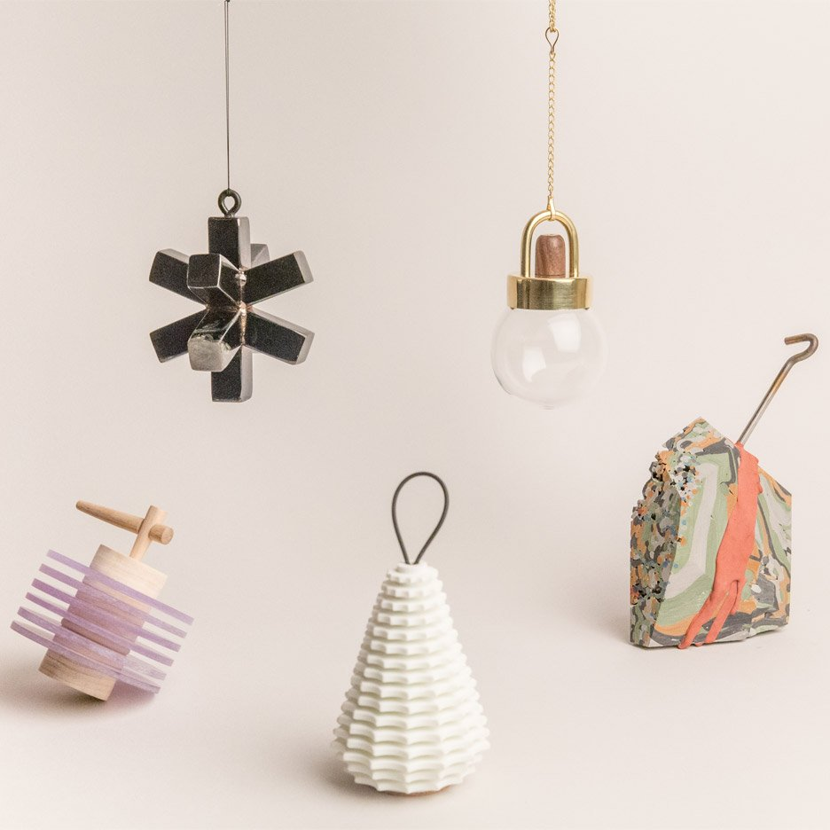 WorkOf x Shinola holiday ornaments collection