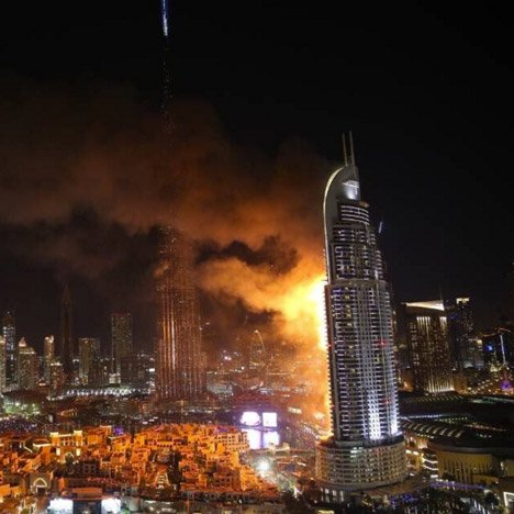 Huge fire breaks out at Atkins-designed Dubai skyscraper The Address
