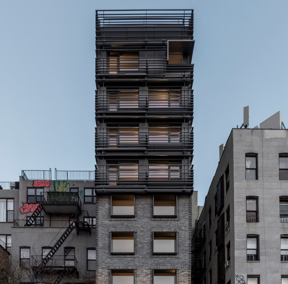 "New York apartment block by Grzywinski + Pons references neighbourhood's ""gritty"" past"
