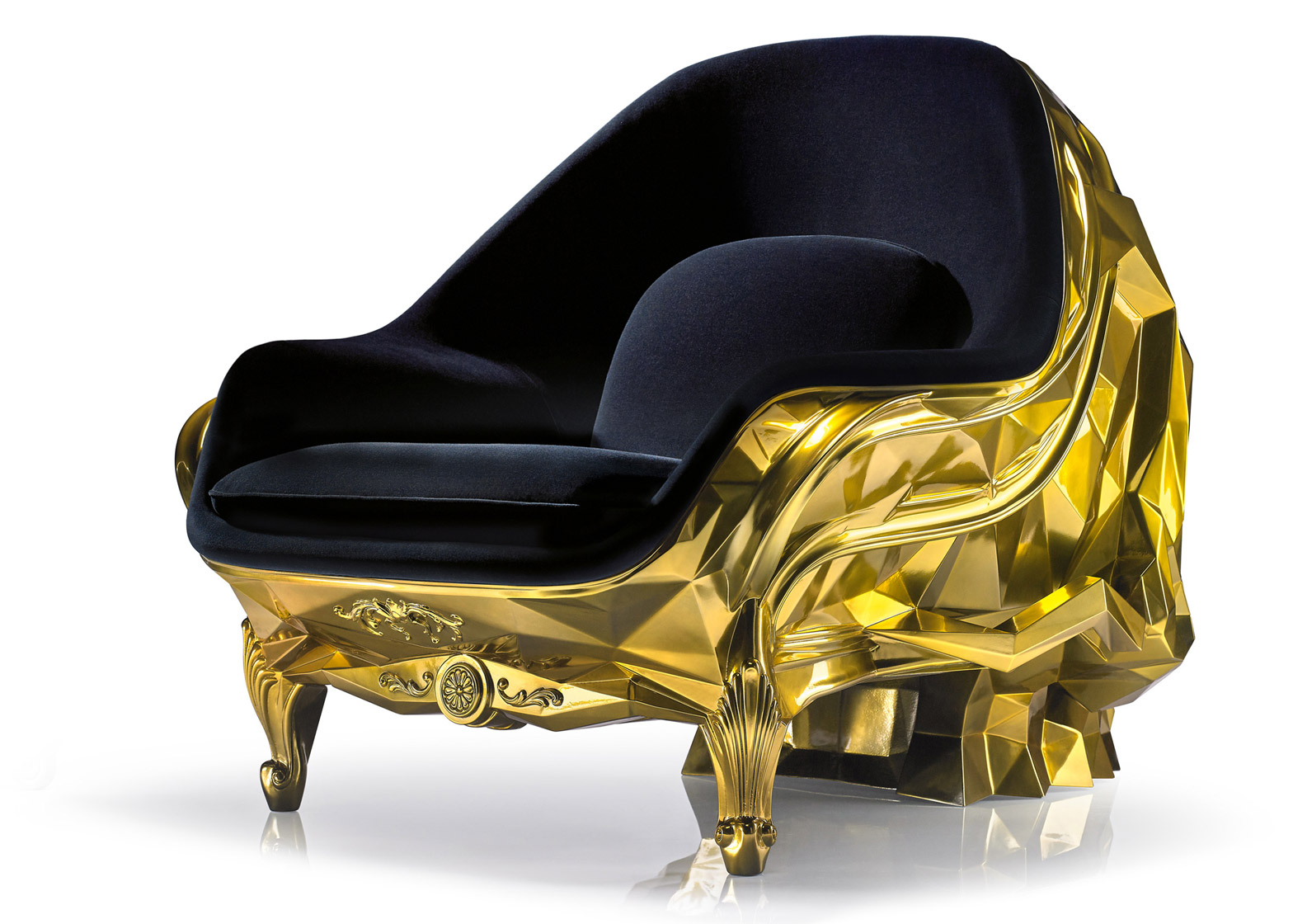 Harow\'s gold-plated skull armchair carries a $500k price tag