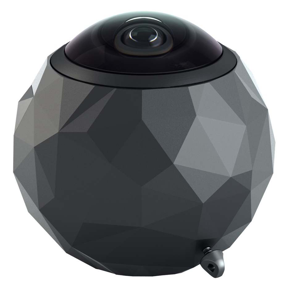 Spherical 360fly action camera captures 360-degree video footage