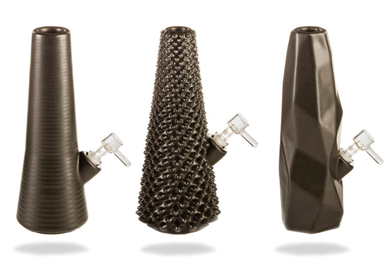 3D printed bongs in Cumulo collection by Printabowl