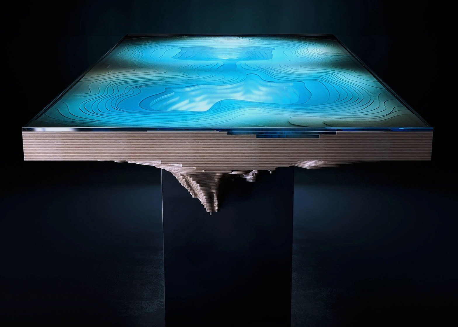Abyss Dining Table by Duffy London