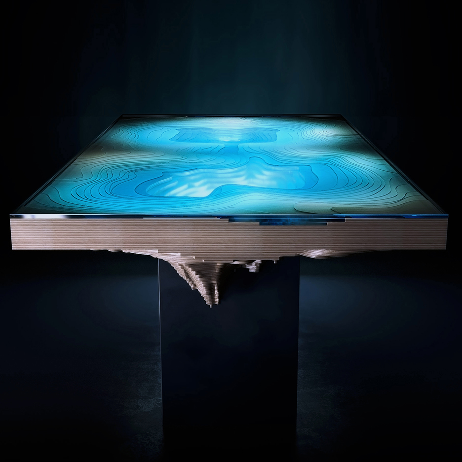 Duffy London's latest Abyss table is designed to resemble ocean chasms