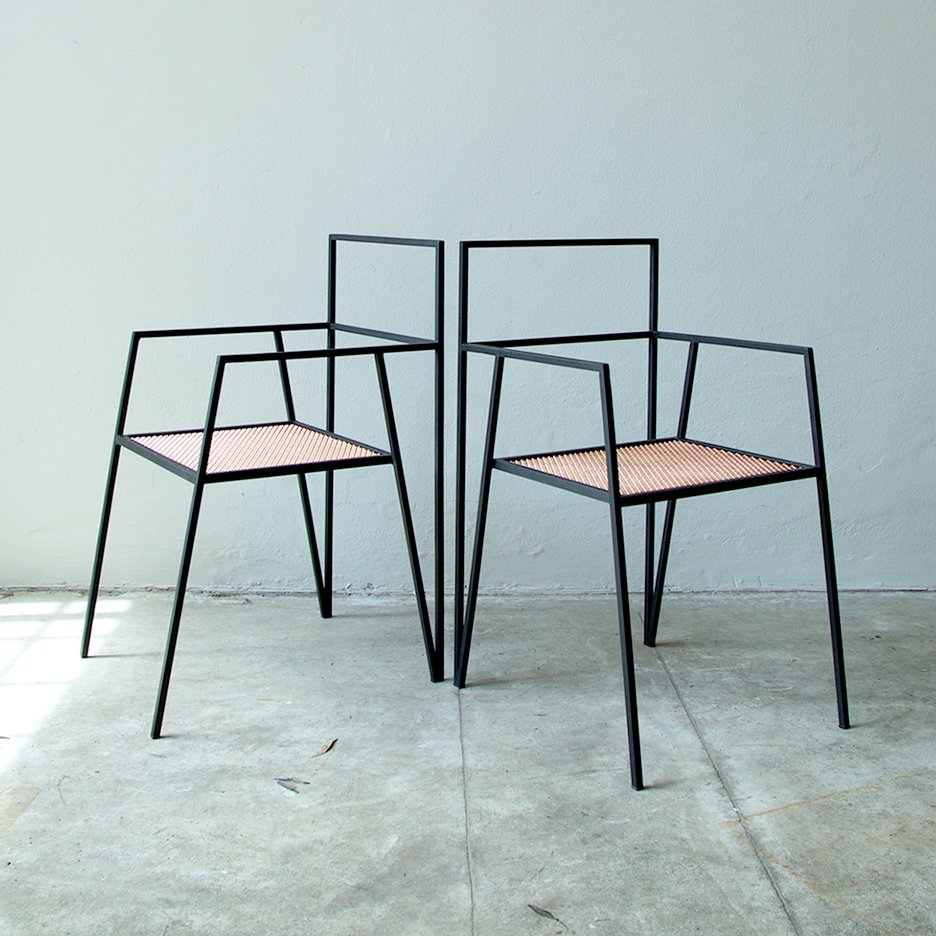 Chair design dezeen magazine for Metal design chair