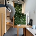 KI Design Studio adds slide and plant-covered wall to Ukraine apartment