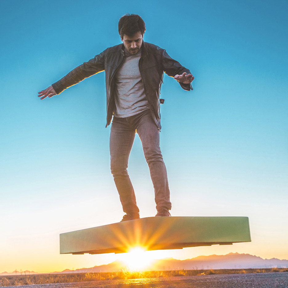 ArcaBoard uses high-powered fans to hover across the ground