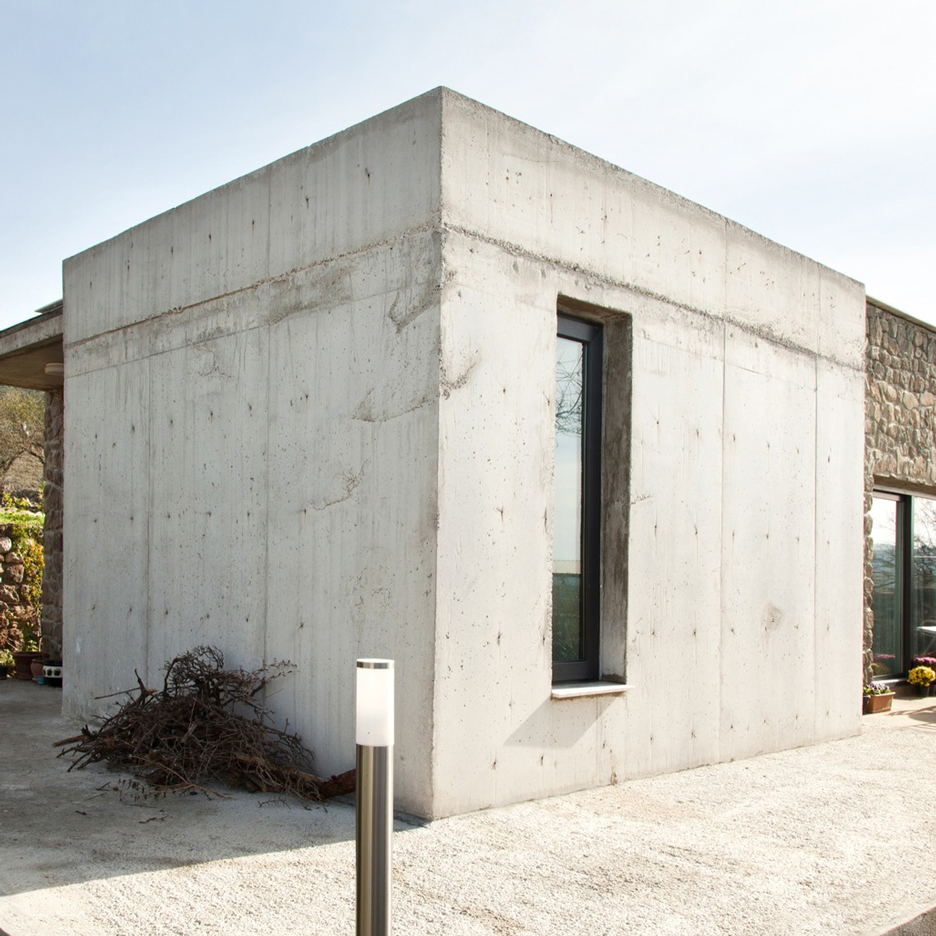Onurcan Çakır uses stone and concrete to create soundproof house in a Turkish village