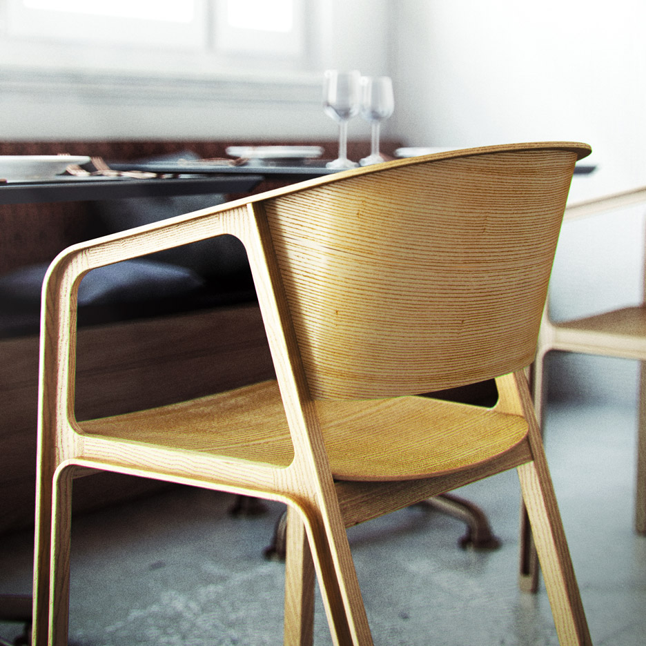 EAJY's Beams Chair is influenced by San Francisco's Golden Gate Bridge