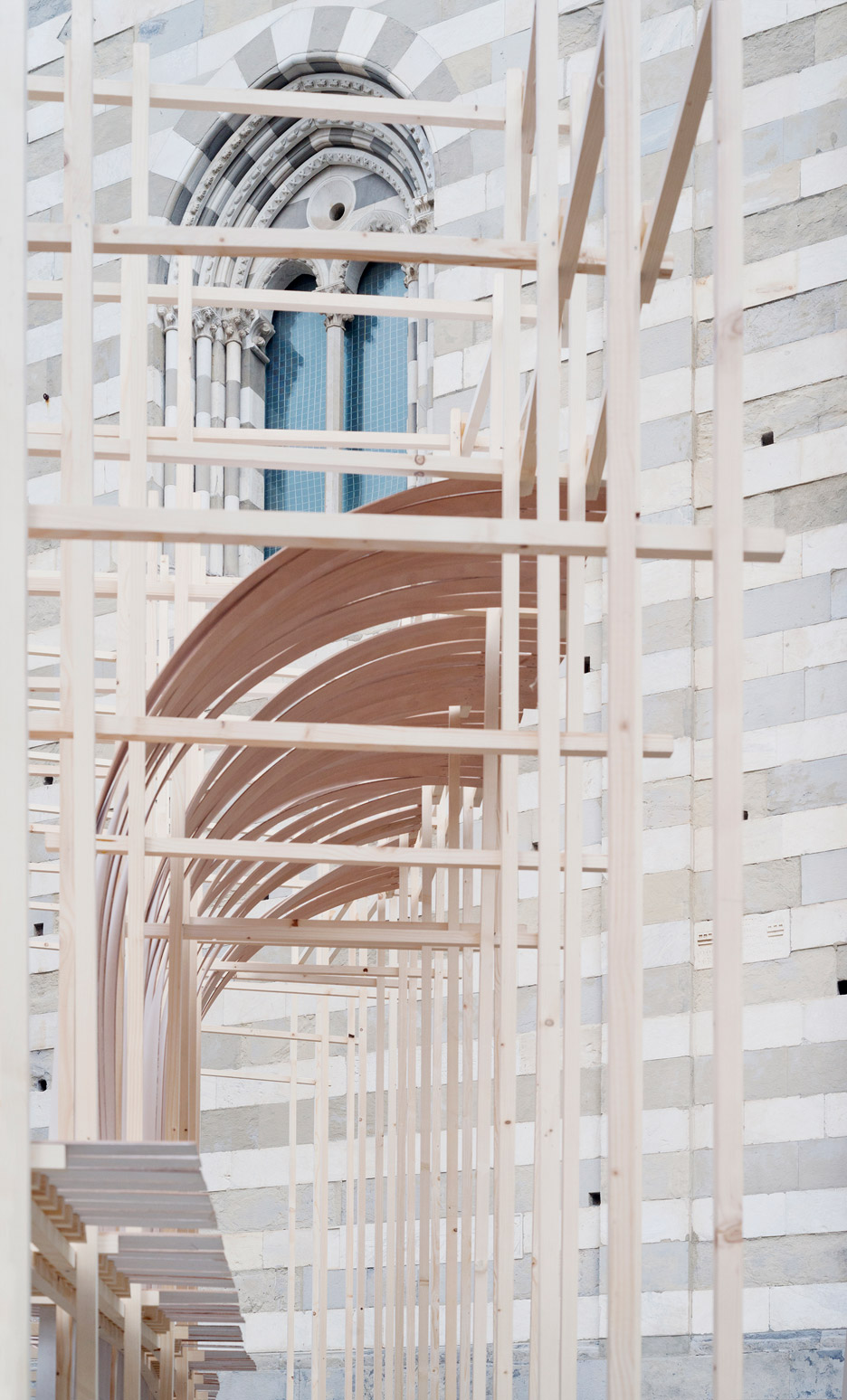 Bent installation for New Generations architecture festival