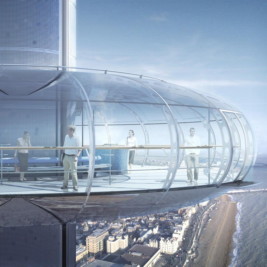 """World's first vertical cable car"" to open on Brighton beach in summer 2016"