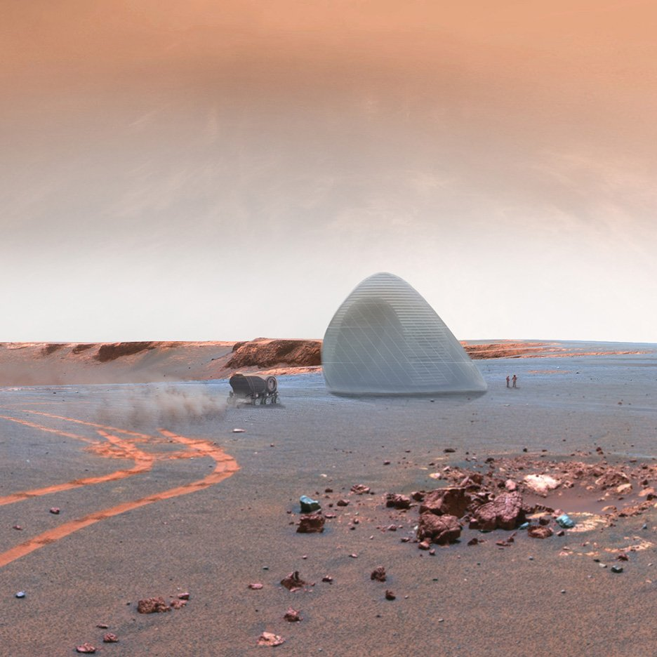 Scientists develop martian concrete for building for Outer space architecture