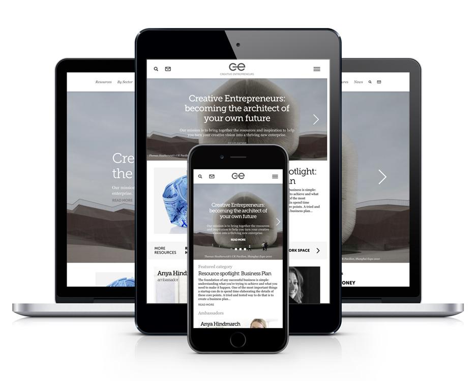 Creative Enterprise website launch