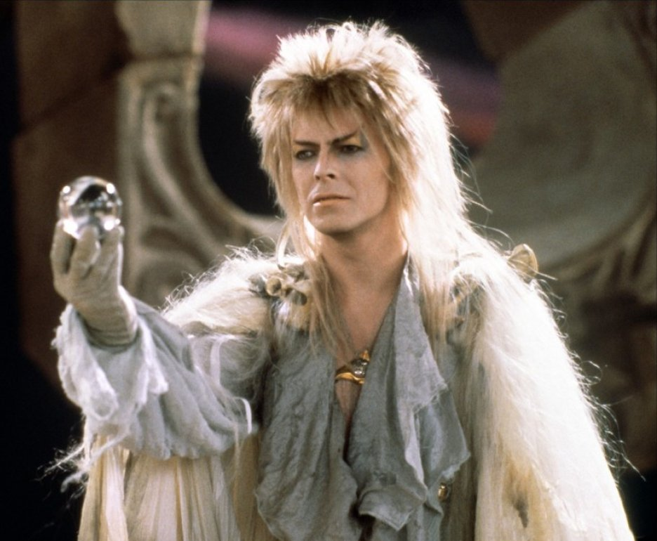 David Bowie as Jareth the Goblin King in Labyrinth movie poster