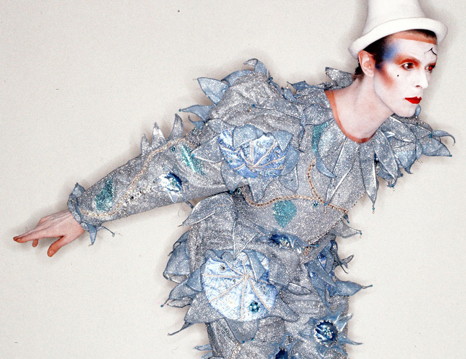 David Bowie Pierrot costume for Ashes to Ashes video by Natasha Korniloff