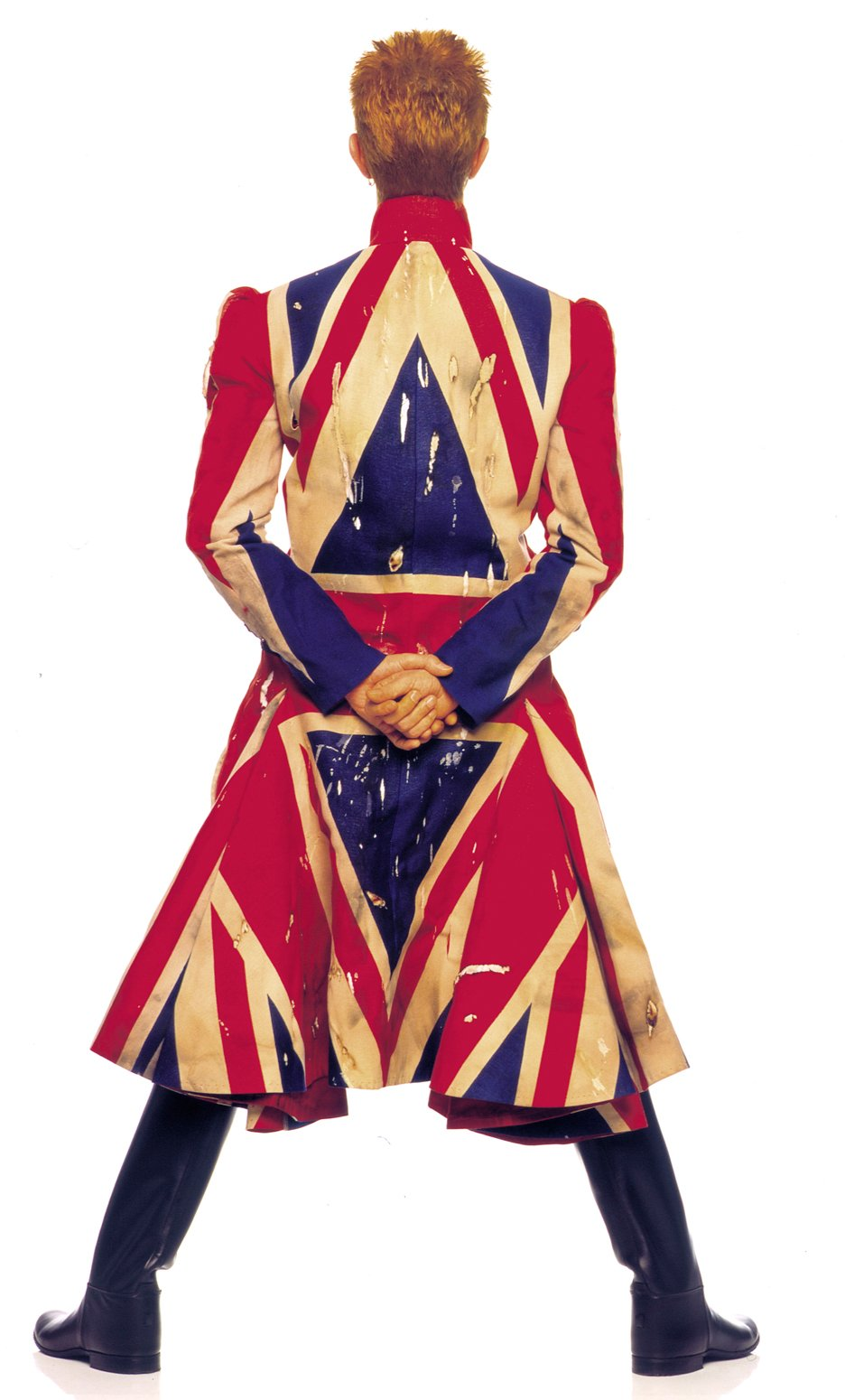 David Bowie Union Jack coat by Alexander McQueen