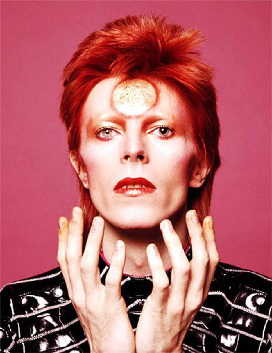 David Bowie Ziggy Stardust sun makeup