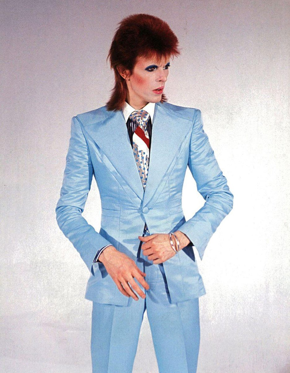 David Bowie ice-blue suit by Freddie Burretti