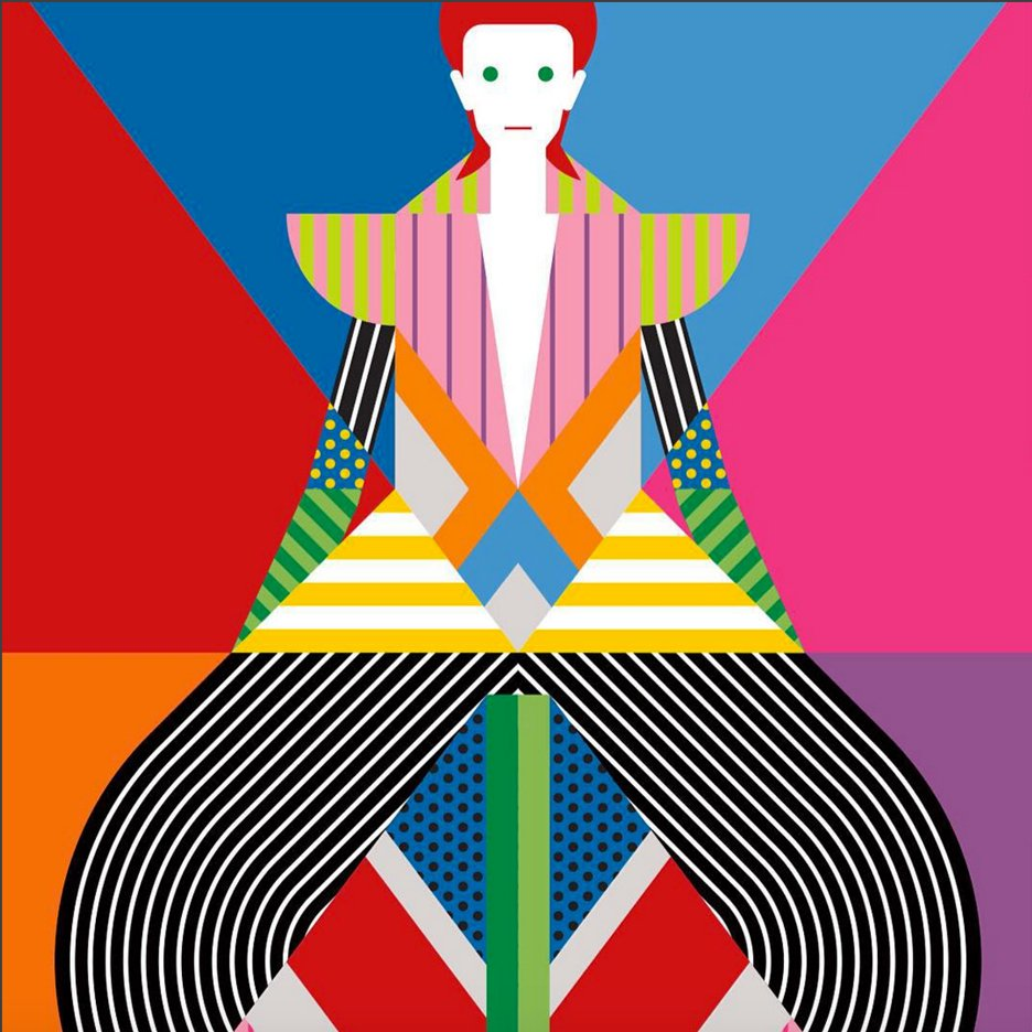 David Bowie illustration by Craig & Karl