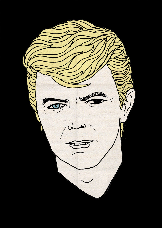 David Bowie illustration by Rich Fairhead