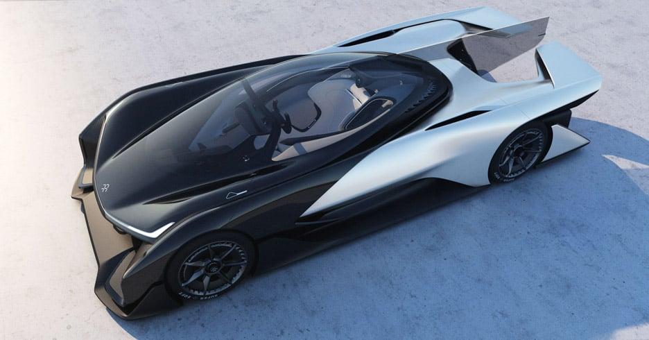 Conceito FFZero1 carro por Faraday Futuro