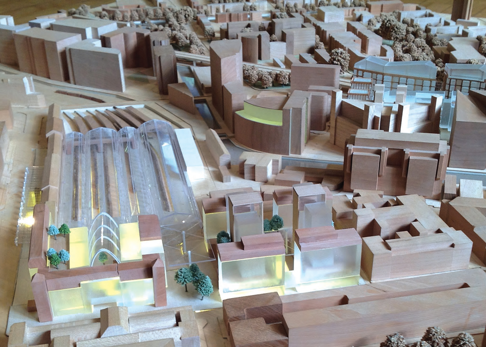 A model of Terry Farrell's rival scheme for the Paddington site
