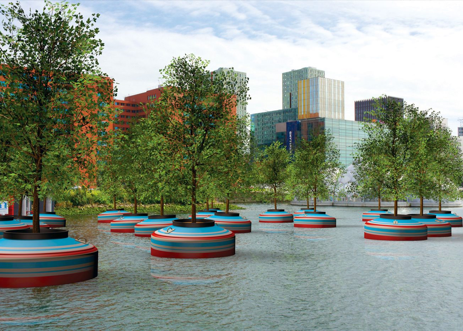 Jorge Bakker is trialling a prototype for a floating forest at RDM Rotterdam