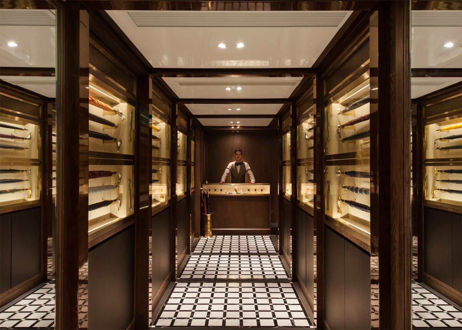 Foxglove speakeasy by NC Design & Architecture is hidden behind an umbrella shop