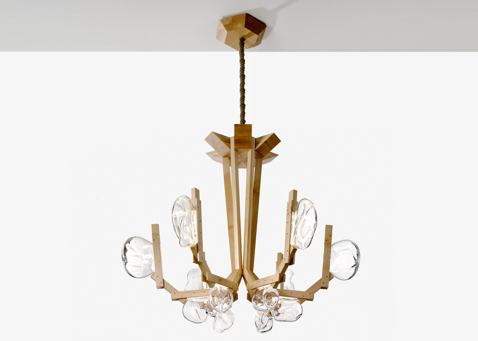 Simple Campana brothers to present mushroom like Fungo chandelier for Lasvit at Maison uObjet