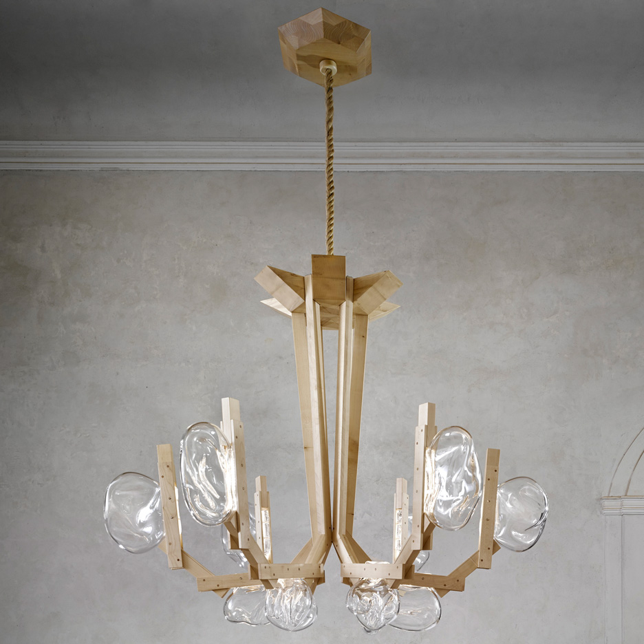 Campana brothers to present mushroom-like Fungo chandelier for Lasvit at Maison&Objet