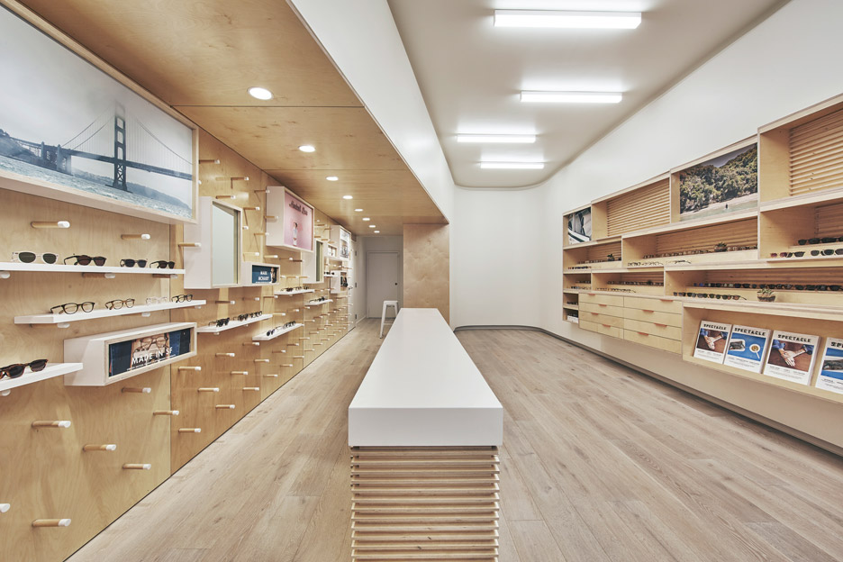 Garrett Leight eyewear store by West of West