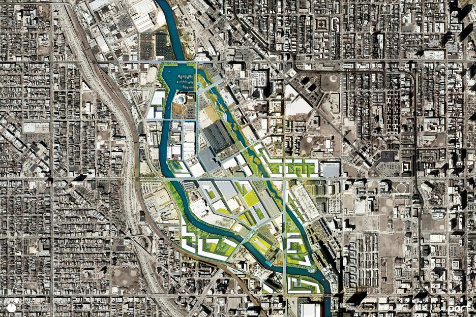 Goose Island Bridge in Chicago by Port Urbanism