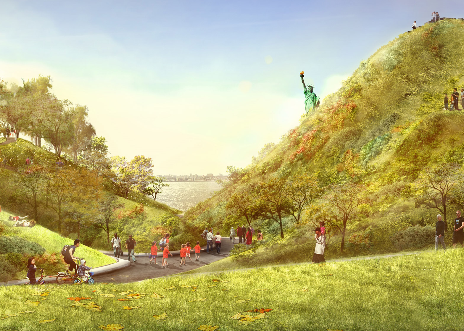 The Hills on Governors Island opening Summer 2016
