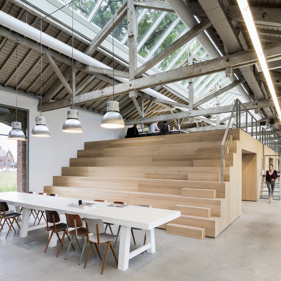 Bedaux de brouwer transforms dutch railway warehouse into Wood architecture definition