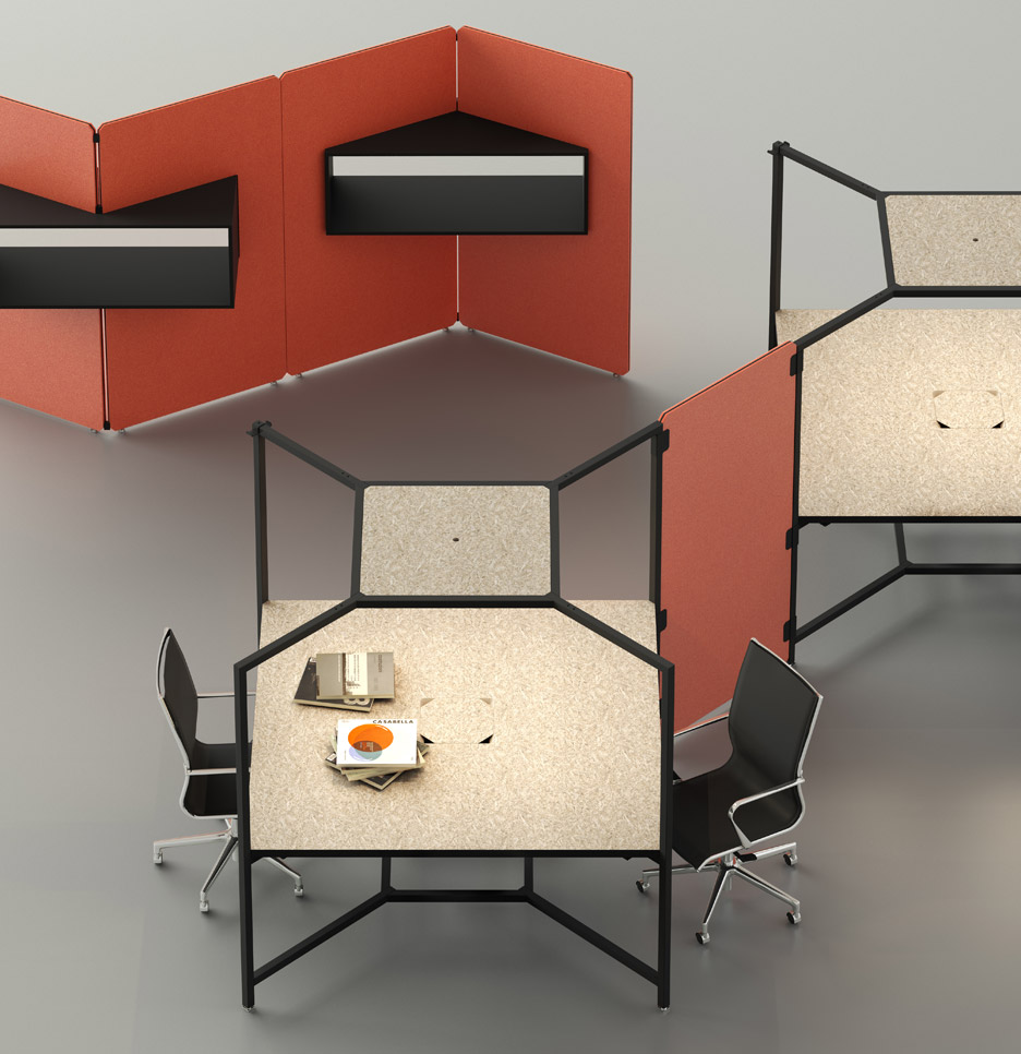 Fantoni S Hub Modular Desk Unit Acts Like A Quot Wall Less Box Quot