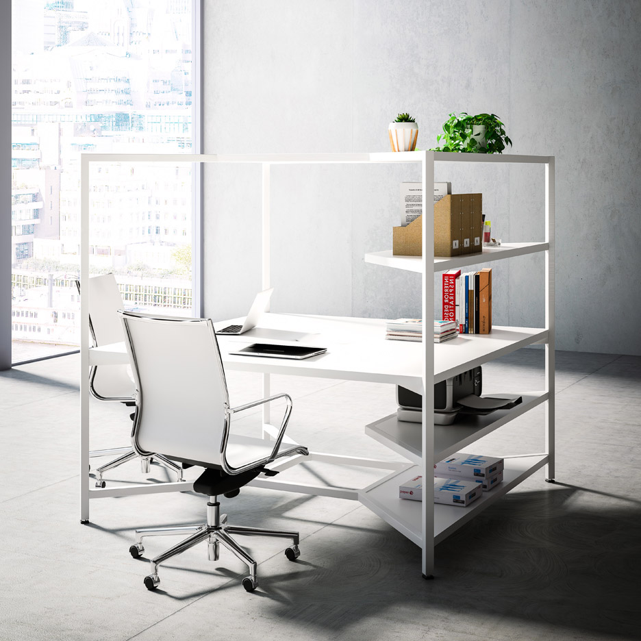Fantonis Hub Modular Desk Unit Acts Like A Wall Less Box
