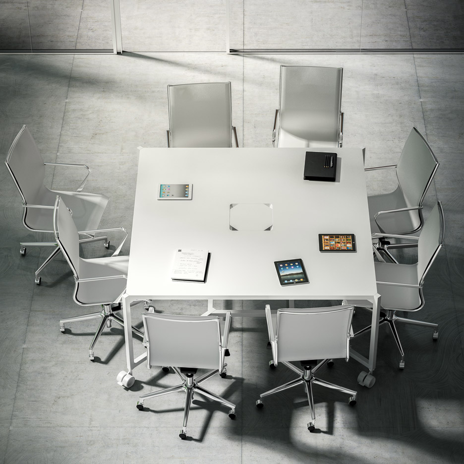 fantoni office furniture. Removing The Canopy Enables Desks To Function As Meeting Tables. Hub By Fantoni Office Furniture N