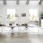 "Fantoni's Hub modular desk unit acts like a ""wall-less box"""