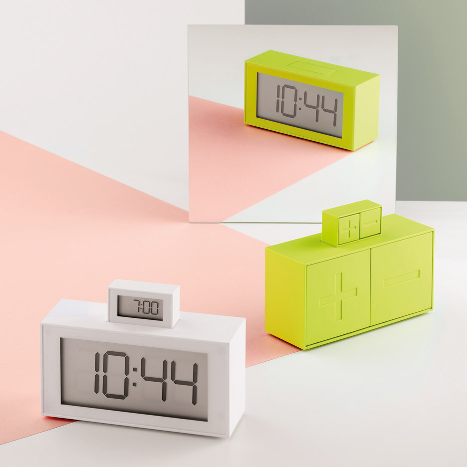InOut clock by Héctor Serrano includes a miniature pop-up alarm