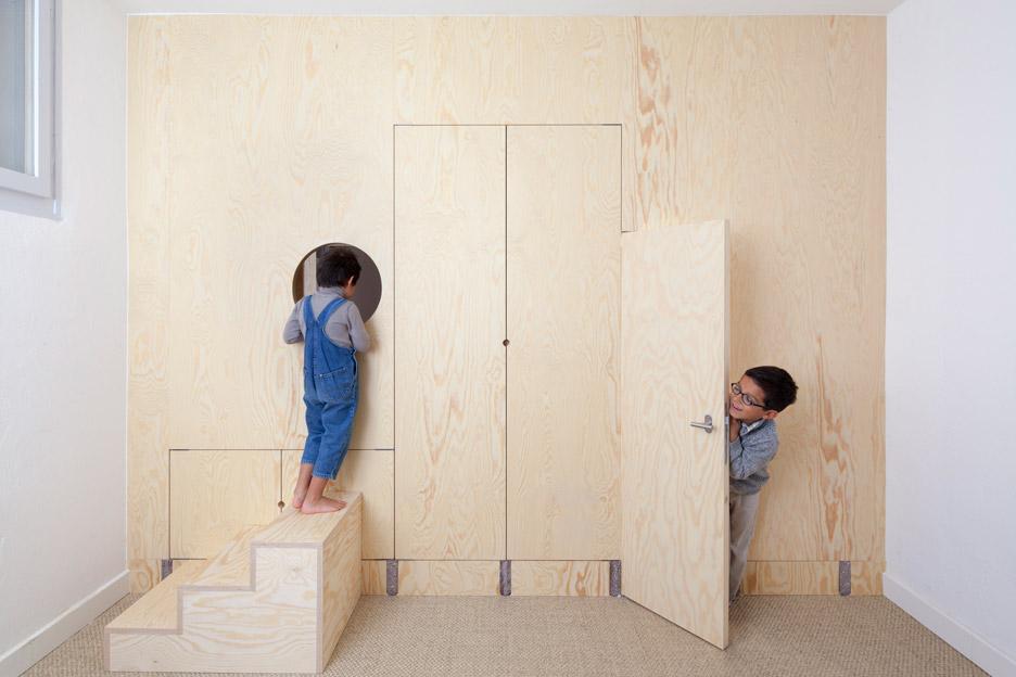 Inhabited wooden walls in Geneva by Aurélie Monet Kasisi