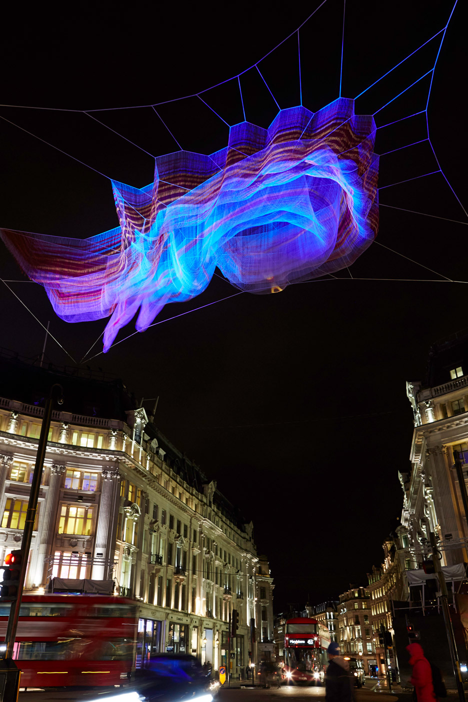 Janet Echelman installation for Lumiere London