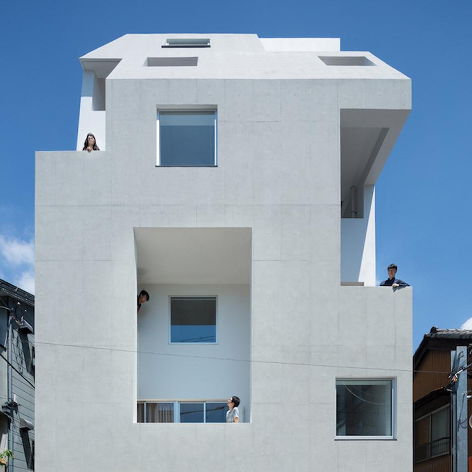 Tomoyuki Kurokawa Architects completes Tokyo building covered in holes