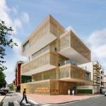 Stacked blocks form Spanish tobacco and art museum by Losada García Arquitectos