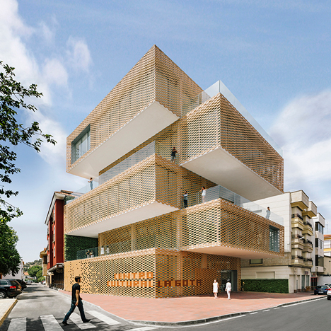 Stacked blocks form Spanish tobacco and art museum by Losada García Arquitectos
